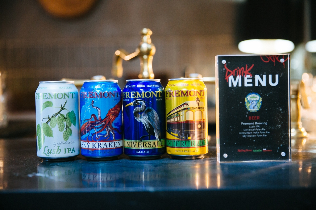 Guests enjoyed a menu of eclectic Seattle beers