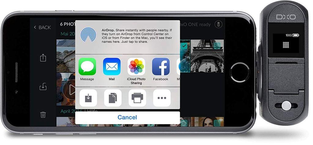 camera phone attachment dxo one review