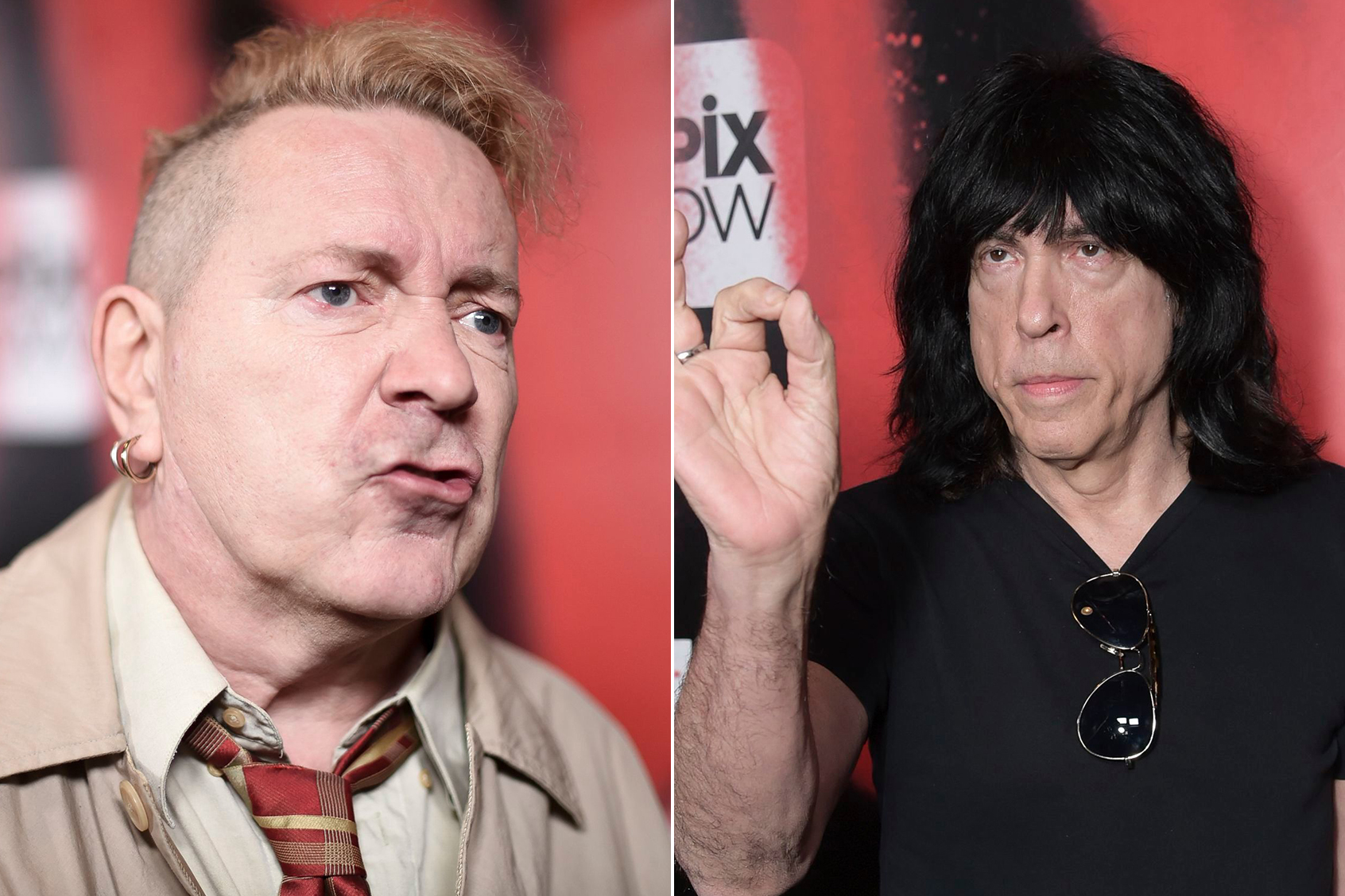 John Lydon and Marky Ramone.