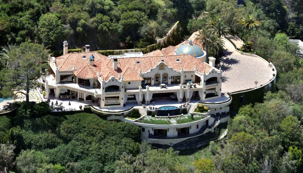 The location of the Manson Murders on Cielo Drive, Beverly HillsAerial views of Los Angeles, America - 11 July 2012