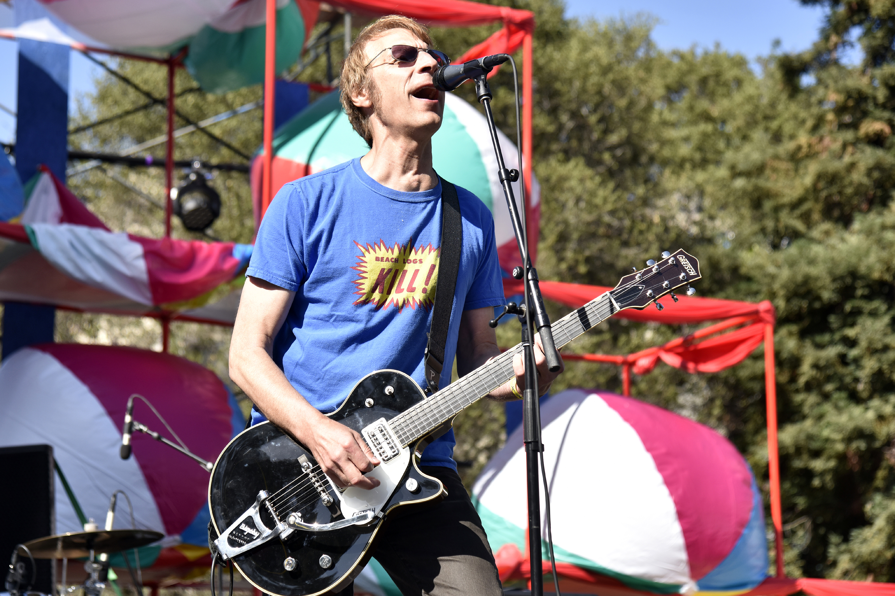 341968c5 OAKLAND, CA - JUNE 30: Mark Arm of Mudhoney performs during 2018 Burger  Boogaloo