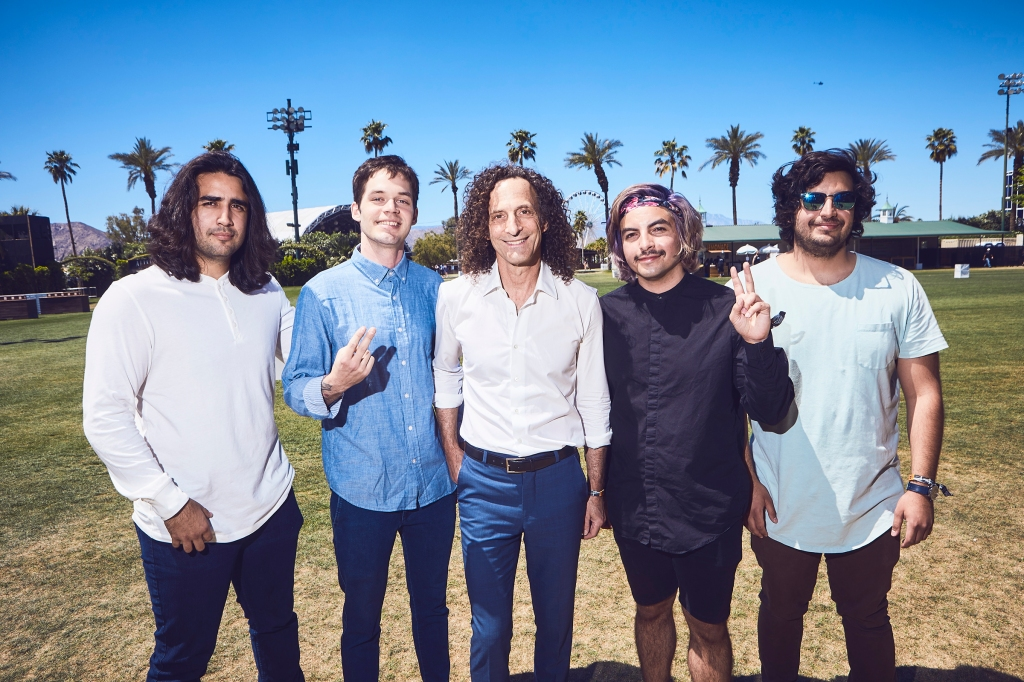 Chon. with Kenny G at Coachella on April 13, 2019.
