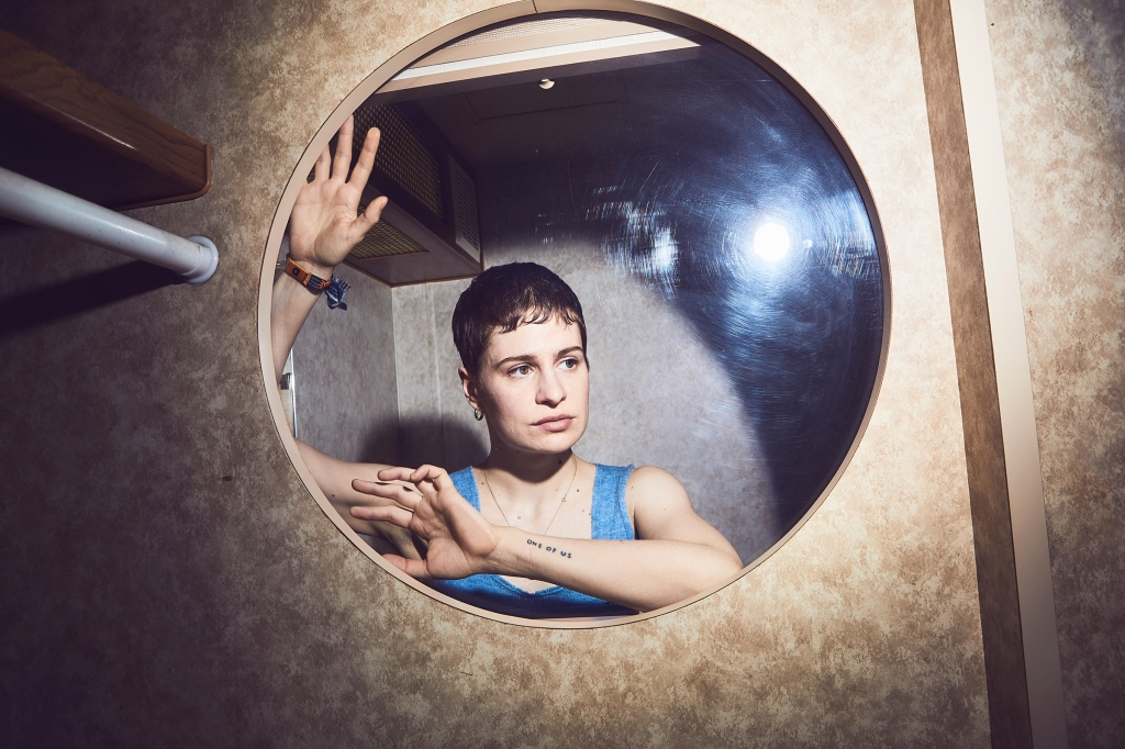 Chris of Christine and the Queens at Coachella on April 13, 2019.