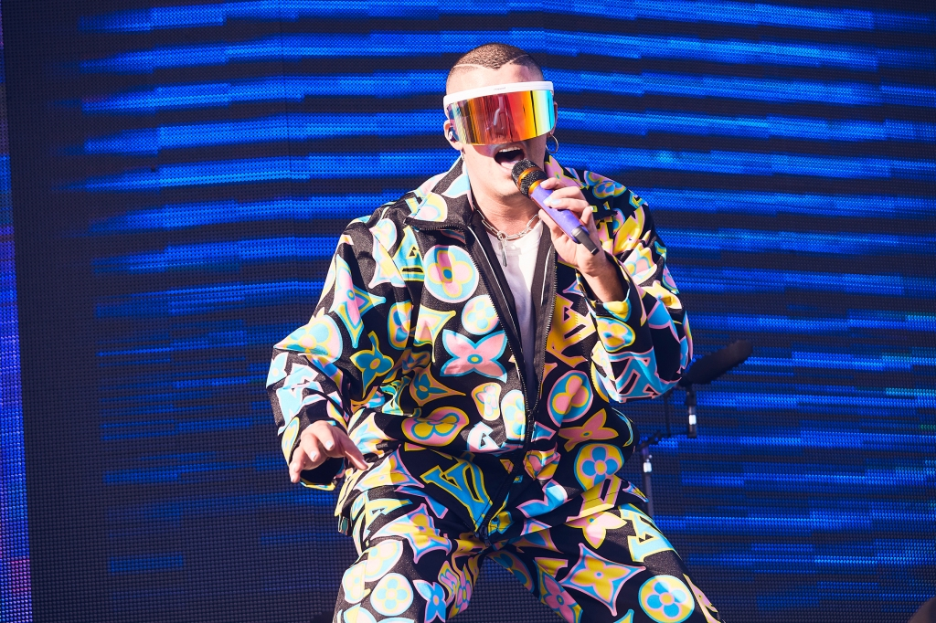 Bad Bunny performs at Coachella in Indio, CA, USA on April 14, 2019.