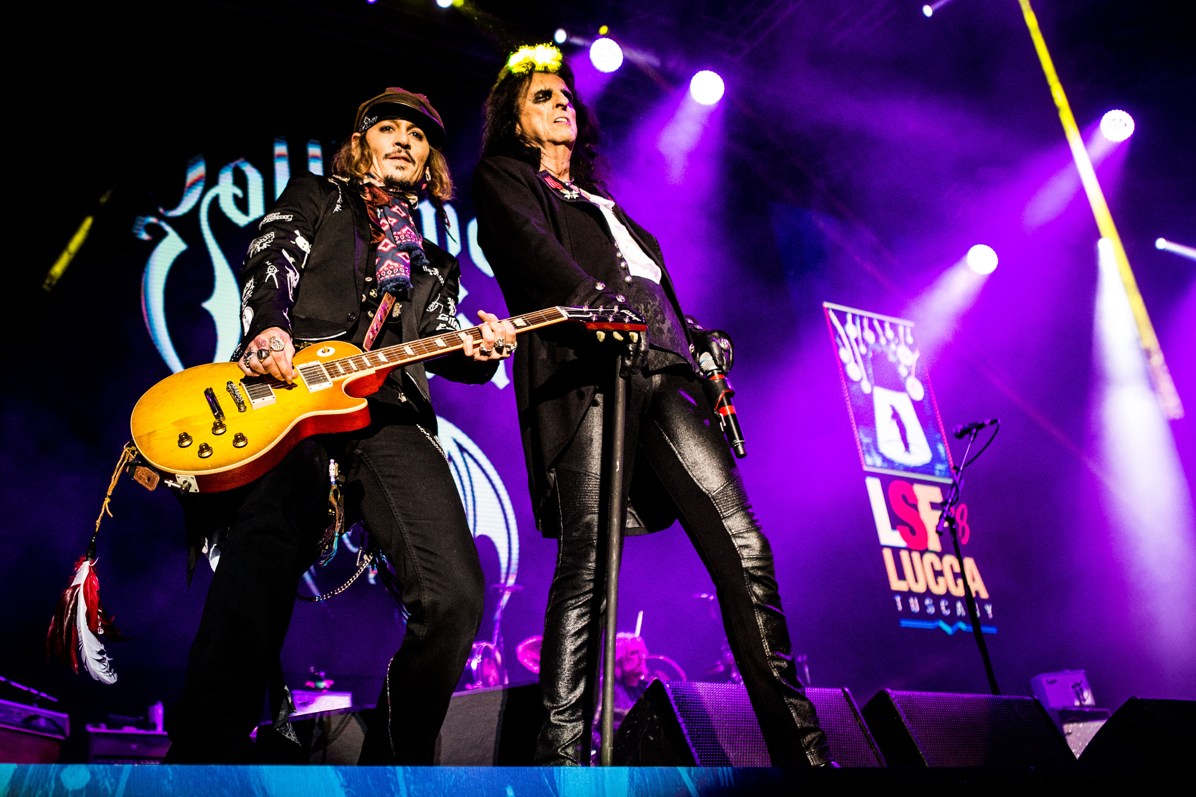 Hollywood Vampires - Alice Cooper, Johnny DeppHollywood Vampires in concert at the Lucca Summer Festival, Italy - 07 Jul 2018