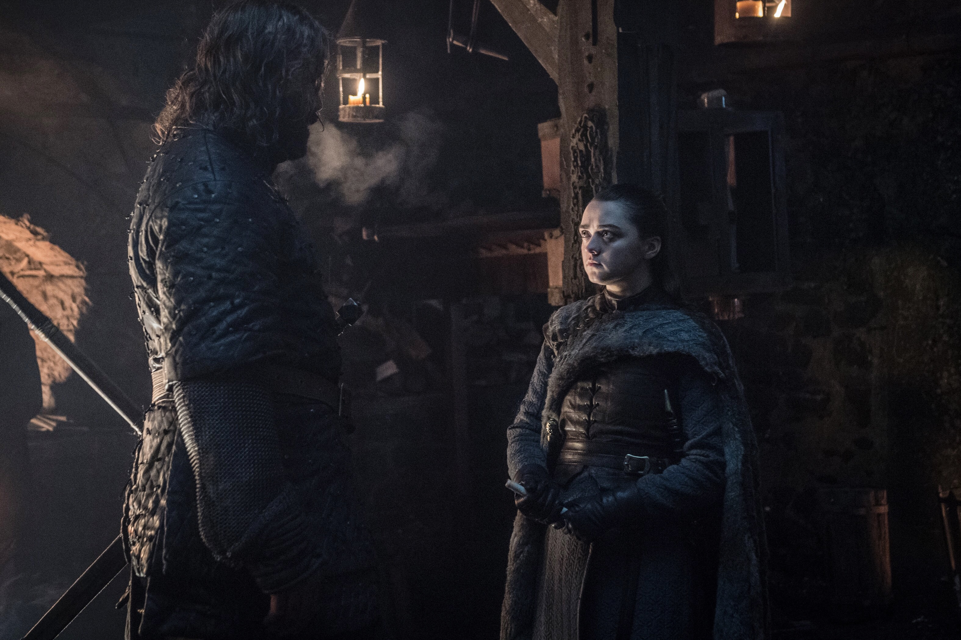 Game Of Thrones Season Premiere Close Up Arya And The Hound
