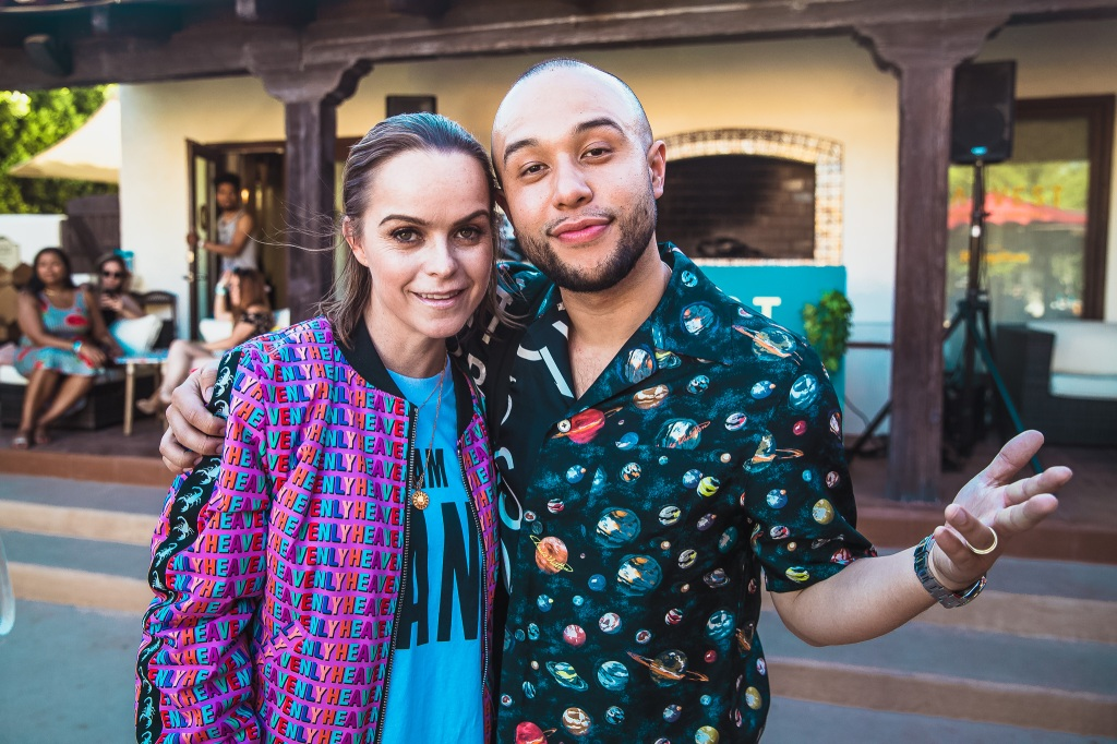 Taryn Manning and Jax Jones pose at Harvest House