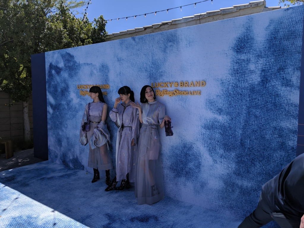 Perfume, J-Pop band and Coachella performers, stop for a quick photo Captured on Google Pixel 3