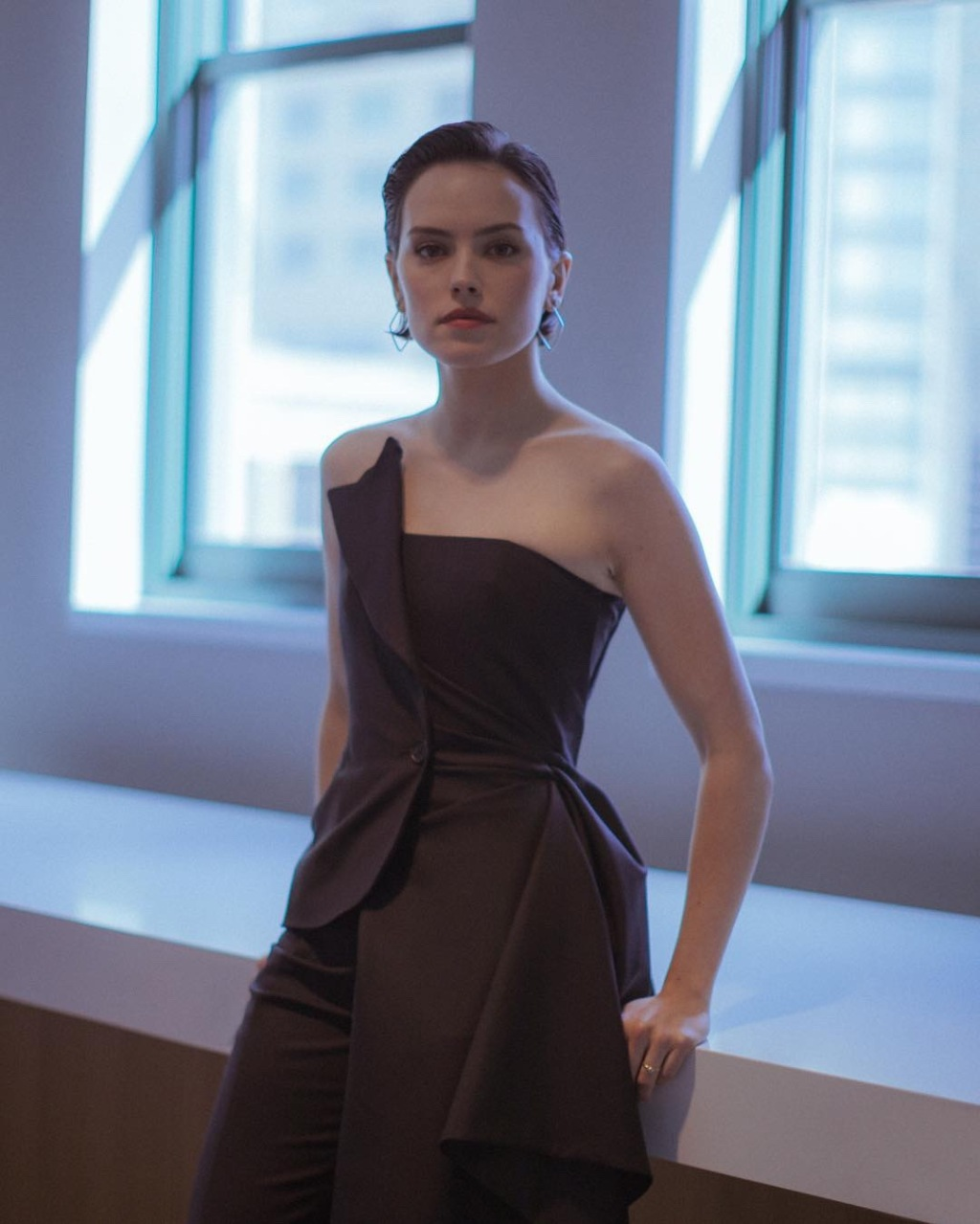 Daisy Ridley poses for a portrait backstage