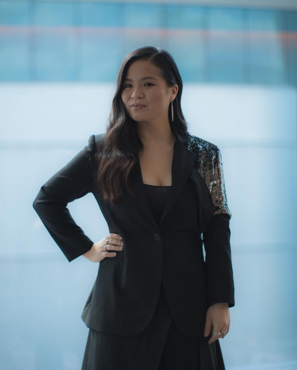 Kelly Marie Tran poses backstage