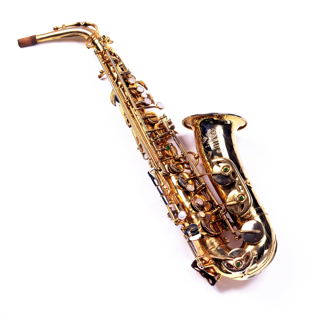 """One of about a dozen horns in Clarence Clemons' collection, this Mark VI alto sax was made in 1967. Clemons used it onstage with the E Street Band and in the studio, including his solos on """"Thunder Road"""" and """"Jungleland"""" from 'Born to Run.' It was donated by his nephew Jake Clemons, who has himself joined the E Street Band since his uncle's death."""