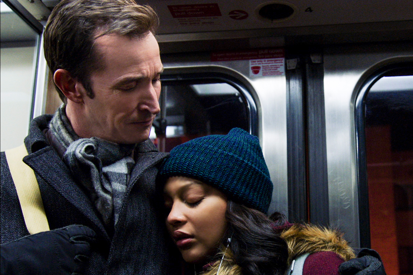 THE RED LINE two-hour series premiere airs Sunday, April 28 (8:00-10:00 PM, ET/PT) on the CBS Television Network. The series will broadcast in two-hour installments across four Sundays. THE RED LINE is an eight episode event series that follows three very different Chicago families as they journey toward hope and healing after a tragedy connects them all and causes them to question their assumptions about themselves and each other. Pictured (L-R): Noah Wyle as Daniel Calder and Aliyah Royale as Jira Calder-Brennan Photo: Best Available Screen Grab/CBS ©2018 CBS Broadcasting, Inc. All Rights Reserved
