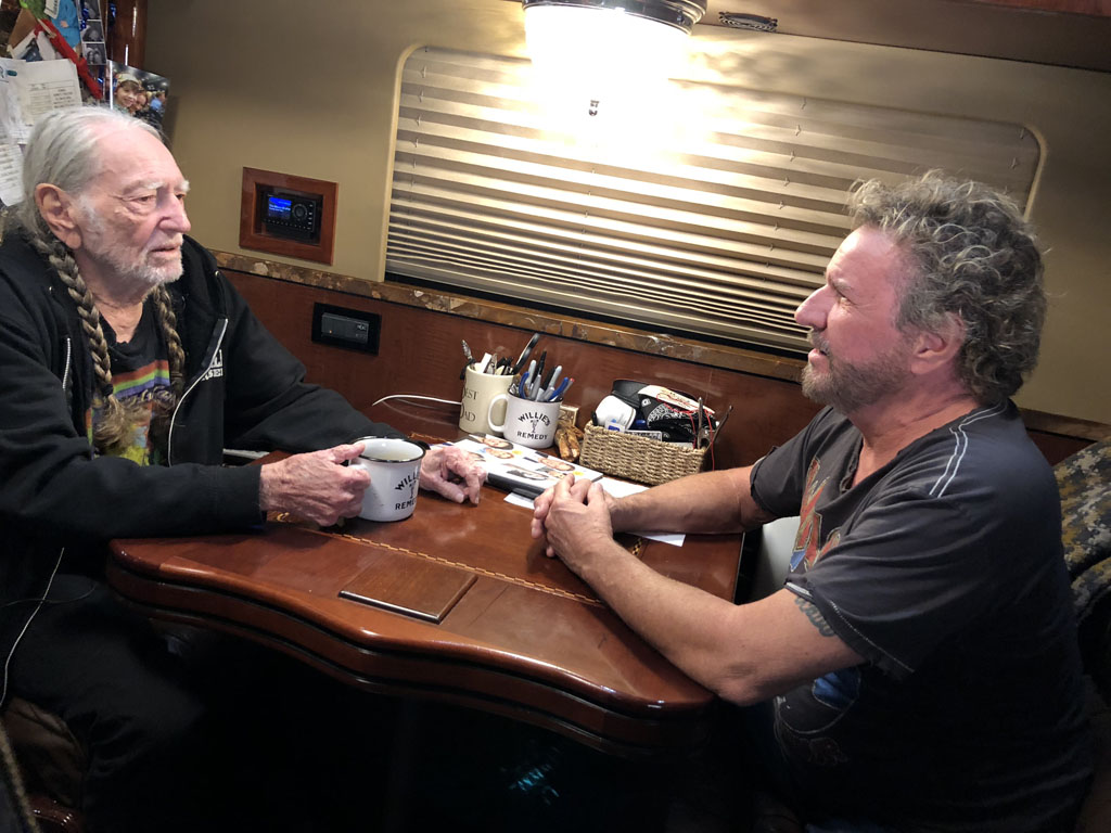 See Willie Nelson Talk Arrests, Retirement With Sammy Hagar