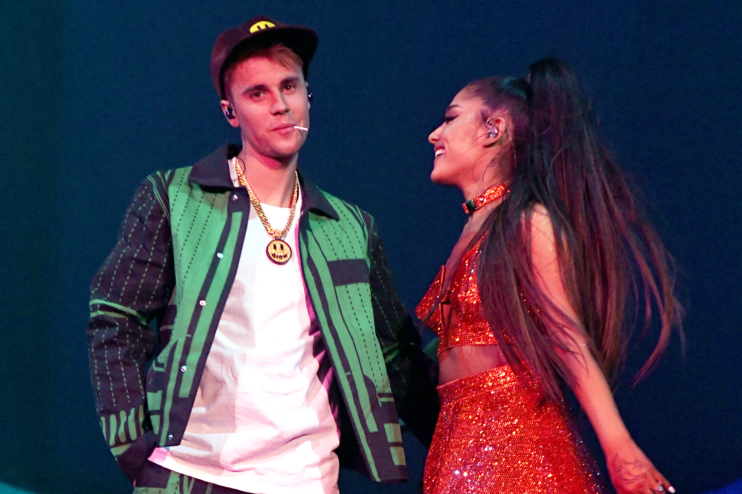 Justin Bieber Performs 'Sorry' at Ariana Grande's Coachella Set, Teases Upcoming Album
