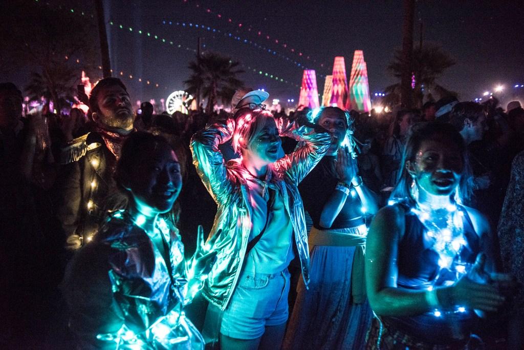 Billie Eilish fans at Coachella on April 13, 2019.