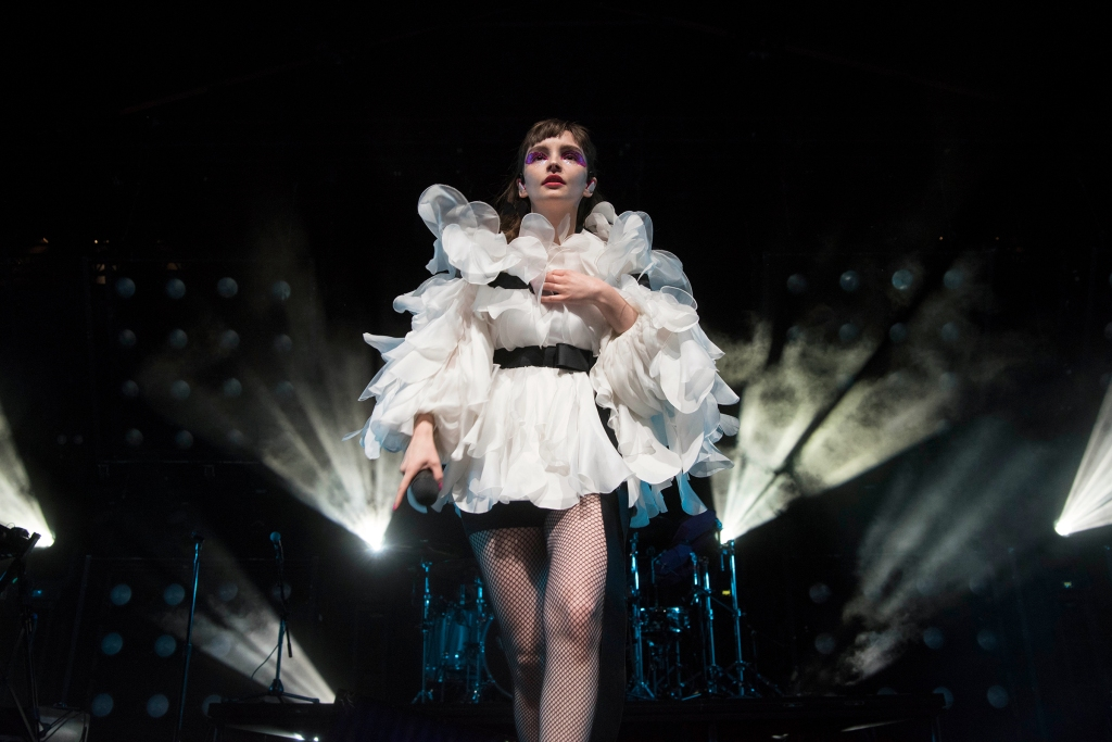 Lauren Mayberry of Chvrches performs at Coachella in Indio, CA, USA on April 14, 2019.