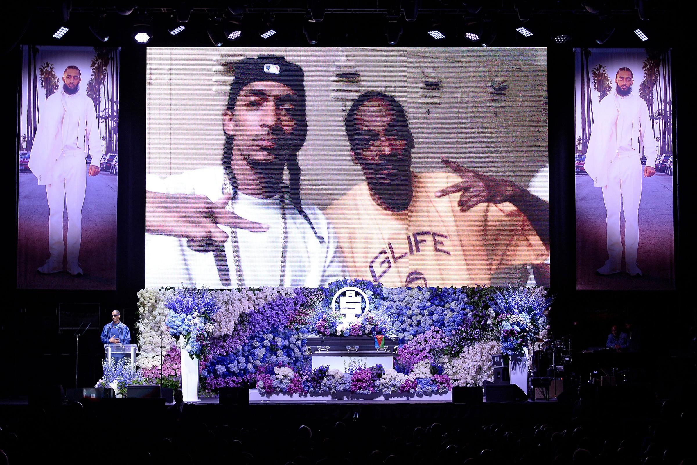 Nipsey Hussle Memorial Service: Friends, Fans Mourn Slain Rapper