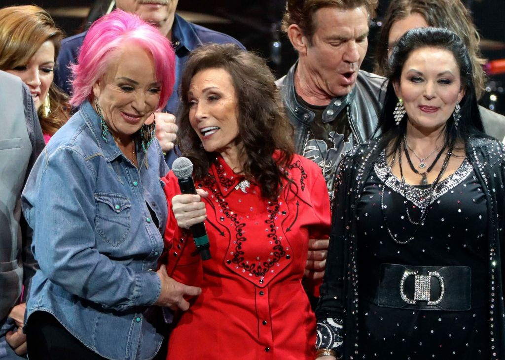 Loretta Lynn sang her signature song with the all-star cast.