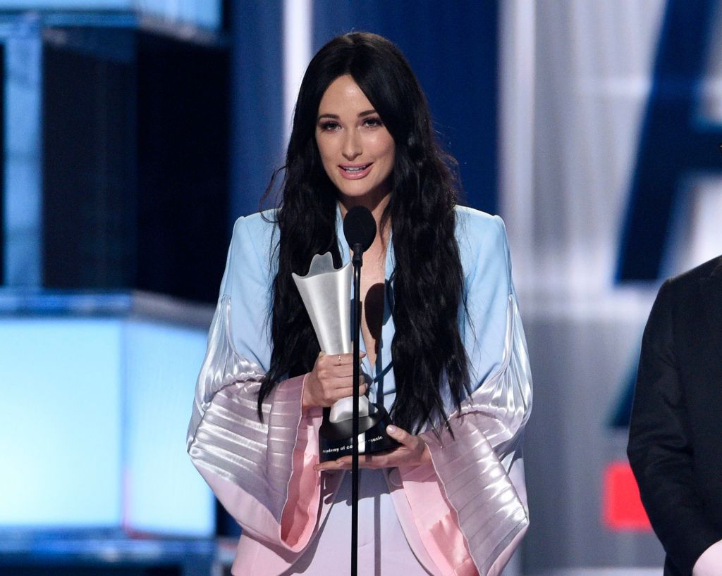 "Kacey Musgraves accepts the award for album of the year for ""Golden Hour"" at the 54th annual Academy of Country Music Awards at the MGM Grand Garden Arena, in Las Vegas54th Annual Academy of Country Music Awards - Show, Las Vegas, USA - 07 Apr 2019"