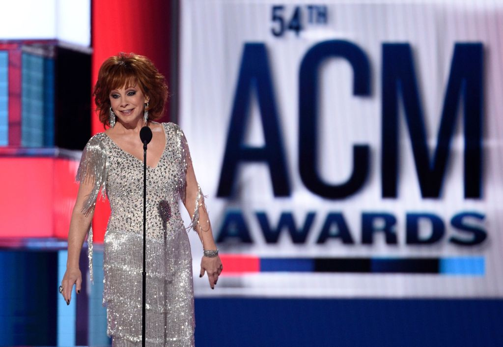 Host Reba McEntire speaks at the 54th annual Academy of Country Music Awards at the MGM Grand Garden Arena, in Las Vegas54th Annual Academy of Country Music Awards - Show, Las Vegas, USA - 07 Apr 2019