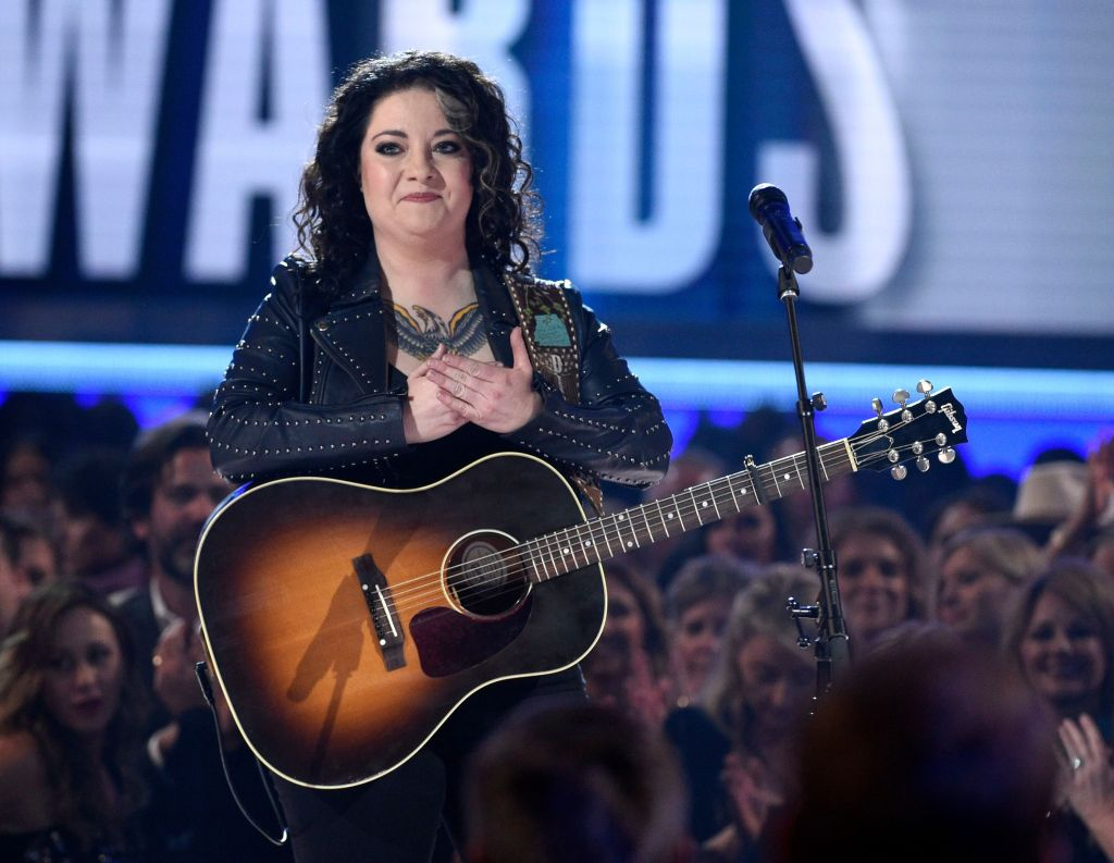"Ashley McBryde reacts after performing ""Girl Goin' Nowhere"" at the 54th annual Academy of Country Music Awards at the MGM Grand Garden Arena, in Las Vegas54th Annual Academy of Country Music Awards - Show, Las Vegas, USA - 07 Apr 2019"