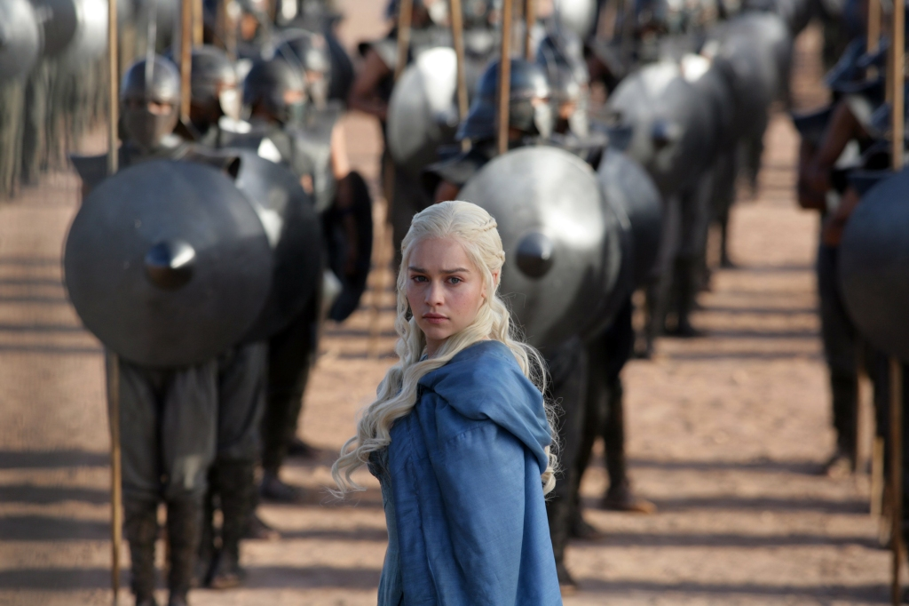 GAME OF THRONES episode 24 (season 3, episode 4): Emilia Clarke. photo: Keith Bernstein/HBO