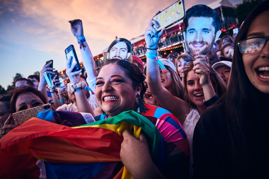 Fans of Imagine Dragons during their set at BottleRock in Napa Valley, CA on May 24th, 2019.