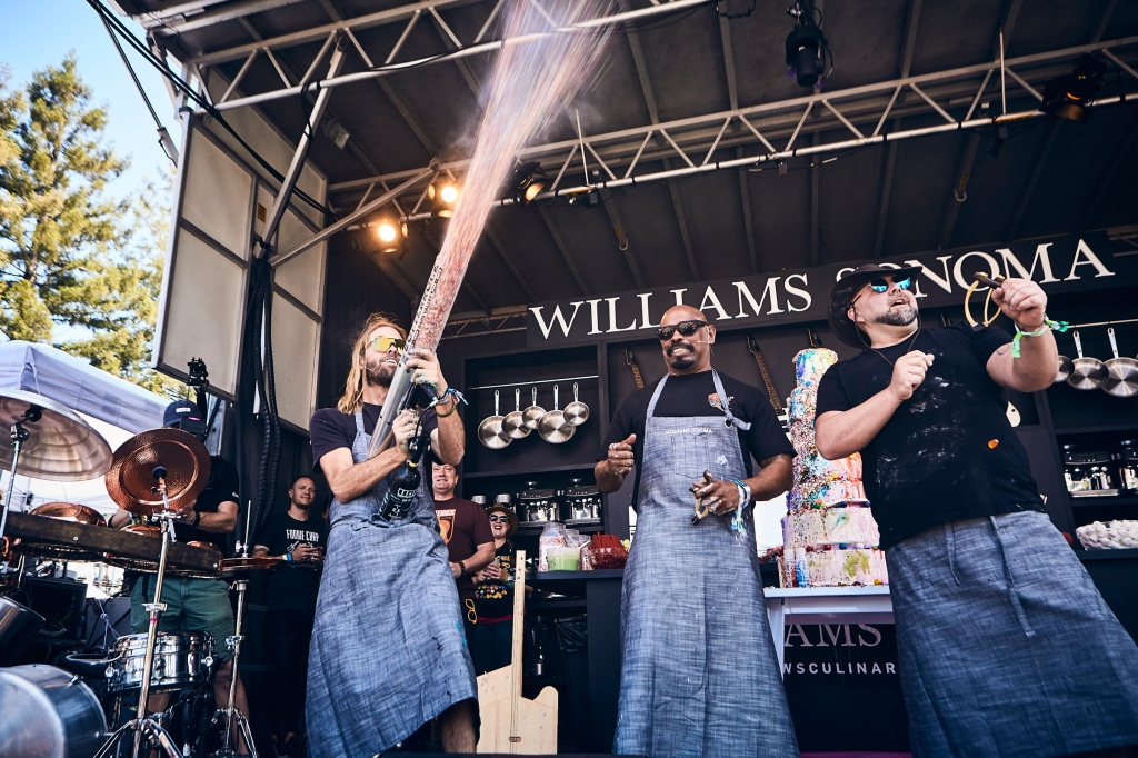 Taylor Hawkins, Sen Dog and Chef Duff Goldman at BottleRock in Napa Valley, CA on May 25th, 2019.