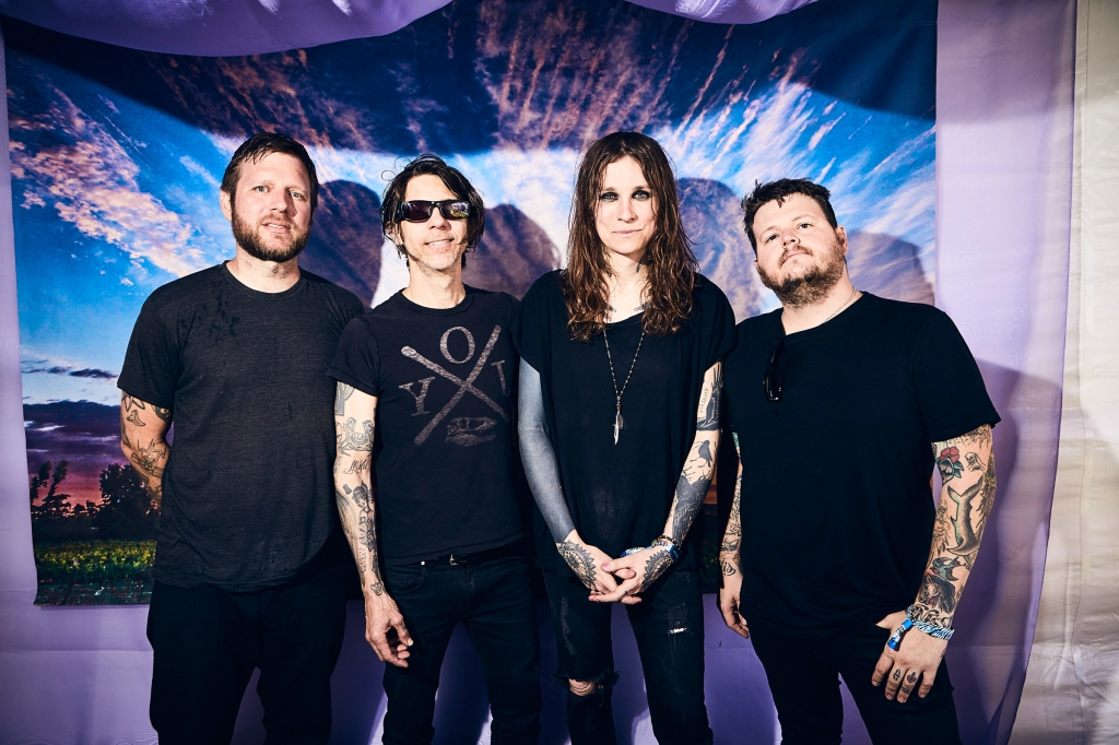 Against Me! backstage at BottleRock in Napa Valley, CA on May 25th, 2019.