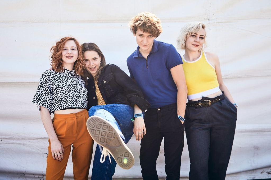 The Regrettes backstage at BottleRock in Napa Valley, CA on May 25th, 2019.