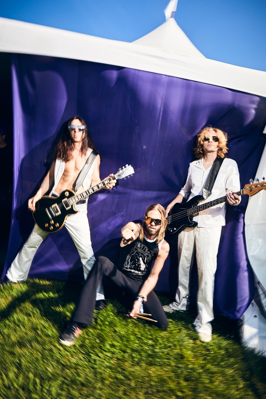Chevy Metal poses backstage at BottleRock in Napa Valley, CA on May 25th, 2019.