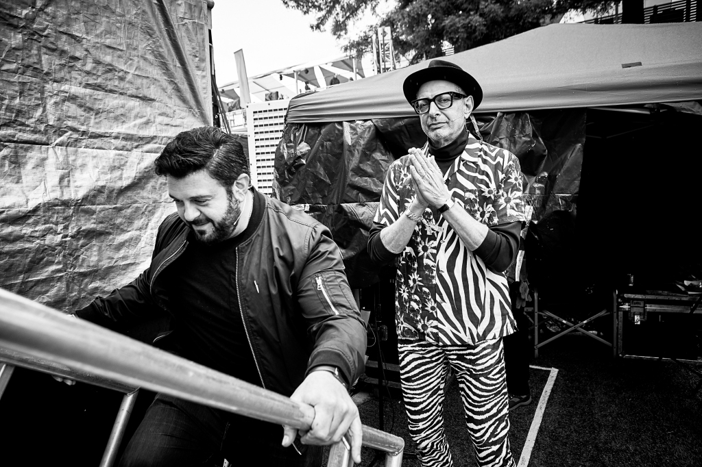 Chef Adam Richman and Jeff Goldblum take the stage at BottleRock in Napa Valley, CA on May 26th, 2019.
