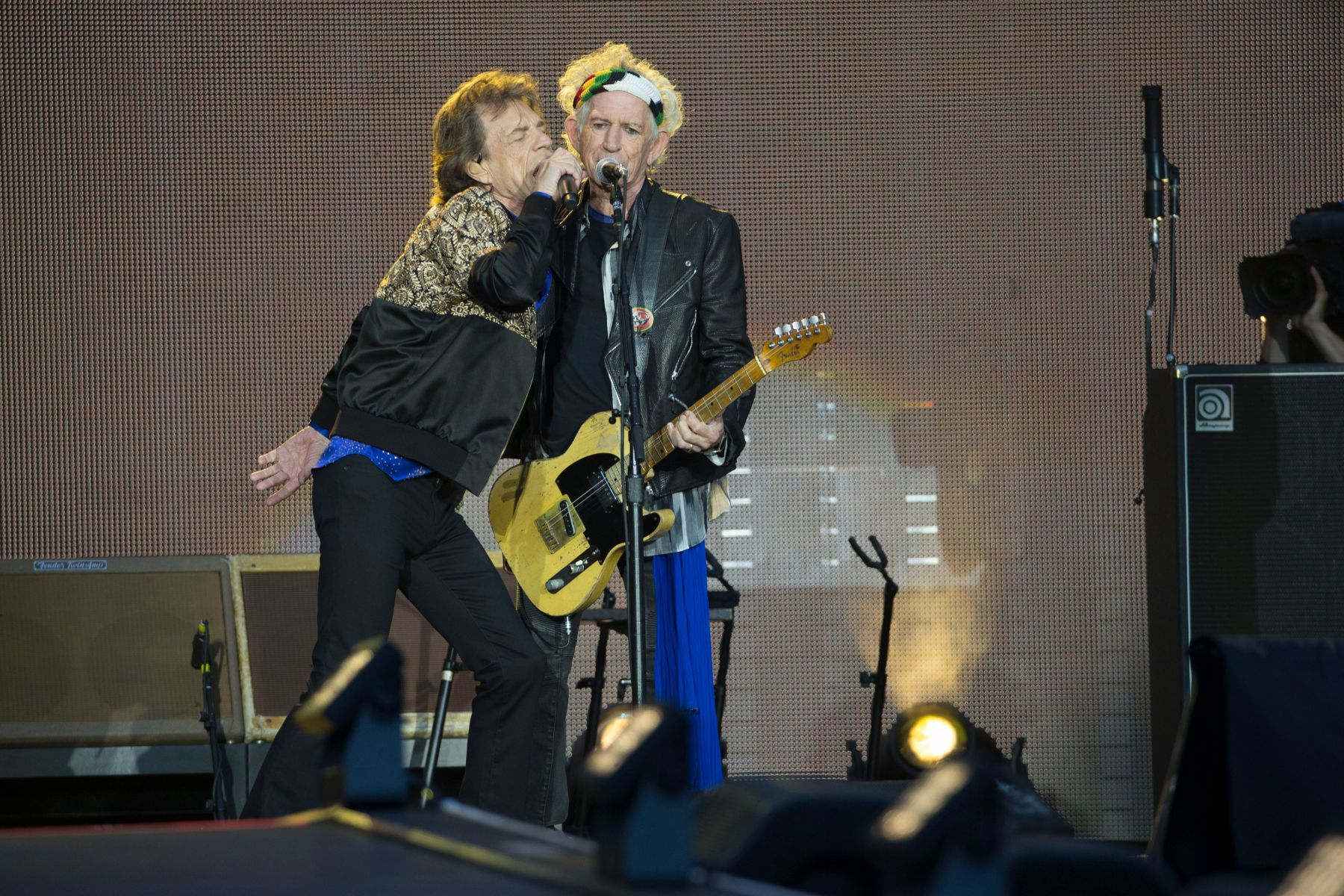 The Rolling Stones - Mick Jagger and Keith RichardsThe Rolling Stones in concert at Murrayfield Stadium, Edinburgh, Scotland, UK - 9th June 2018