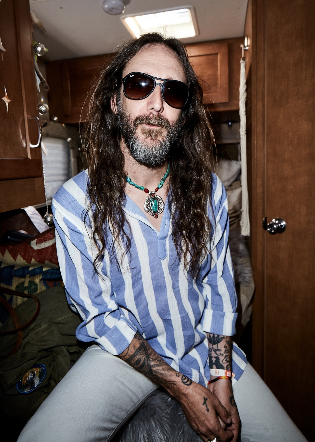 Chris Robinson backstage at BeachLife Music Festival in Redondo Beach, California on May 3-5th, 2019.