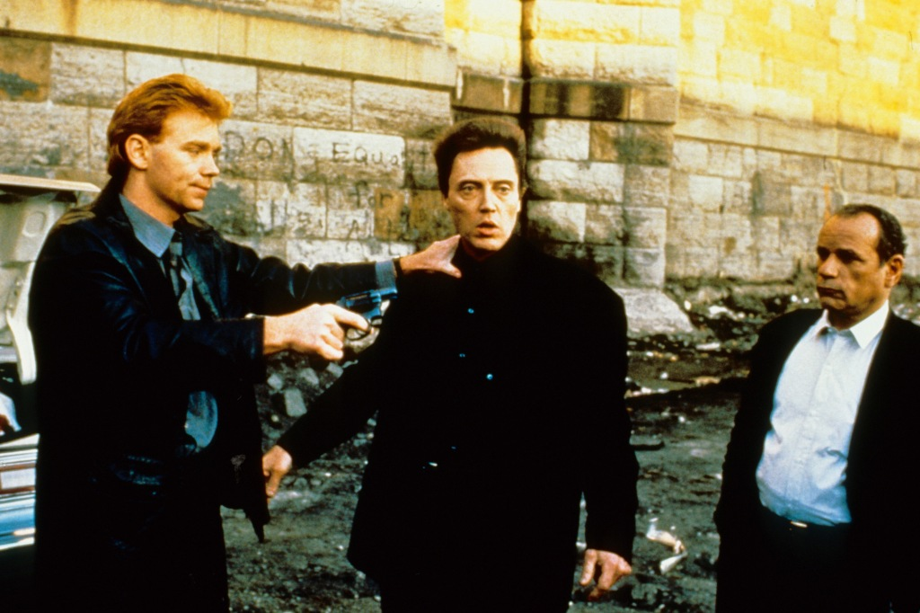 King of New York (1990)Directed by Abel FerraraShown: David Caruso (as Dennis Gilley), Christopher Walken (as Frank White), Victor Argo (as Roy Bishop)