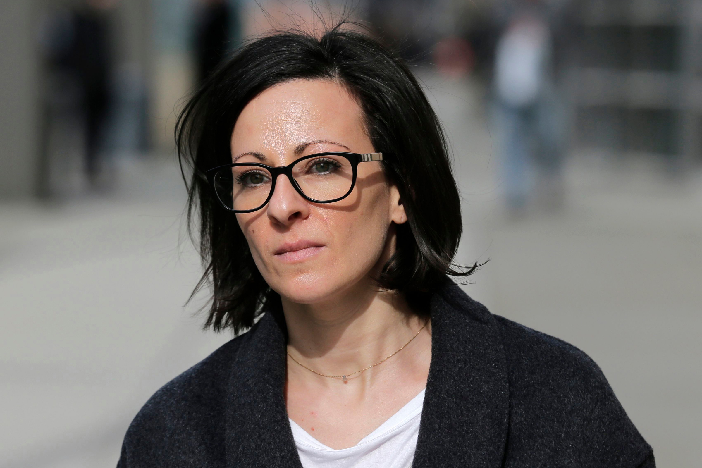 """Lauren Salzman leaves Brooklyn federal court in New York, . Salzman is among defendants from the self-help group NXIVM, co-founded my her mother Nancy Salzman, charged with coercing women to be a part of a secret sub-group where they were expected to act as """"slaves"""" and engage in sex actsBranded Women, New York, USA - 28 Jan 2019"""