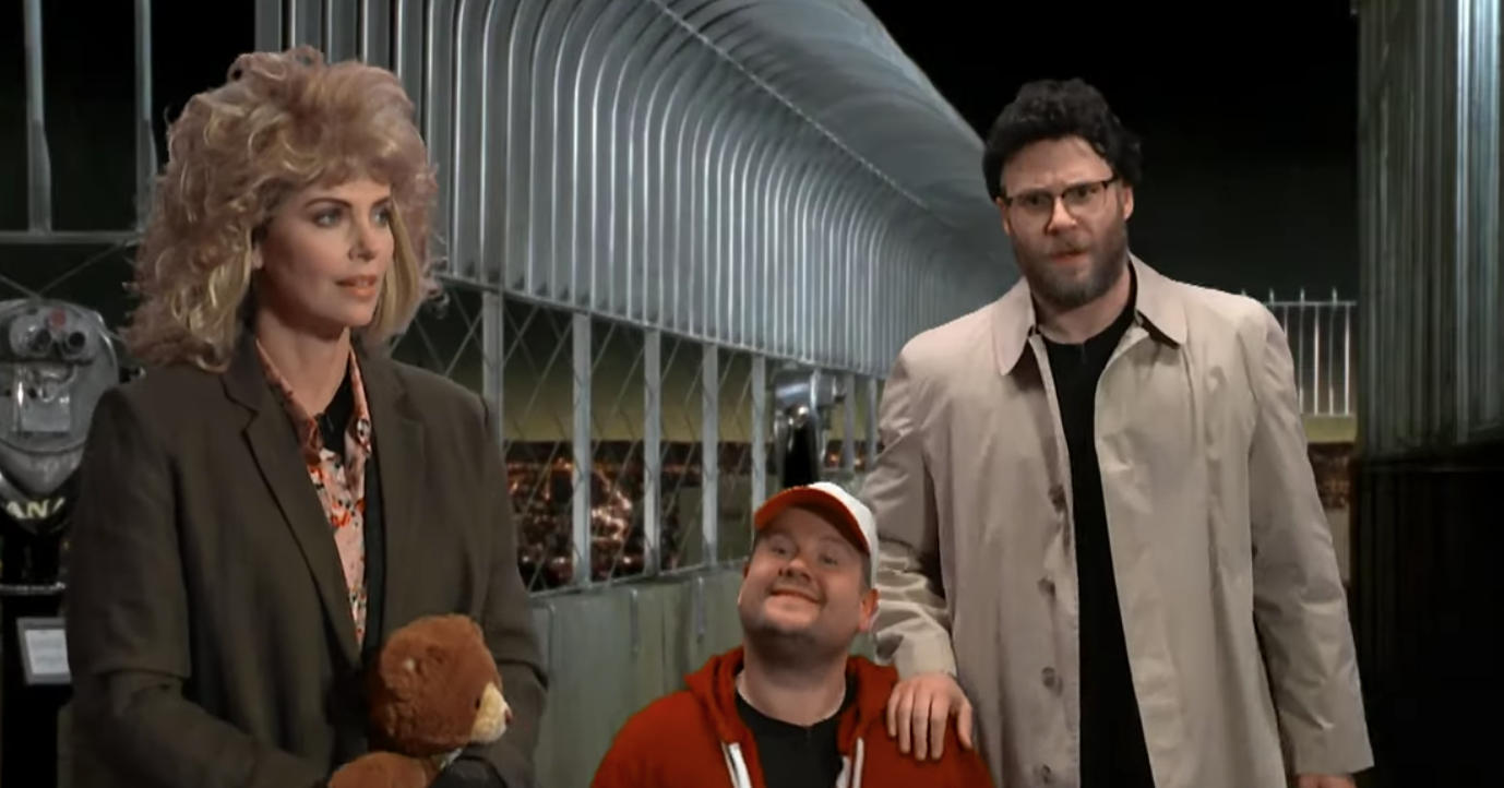 Watch Charlize Theron and Seth Rogen Reenact 20 Popular Rom-Coms on 'Corden'