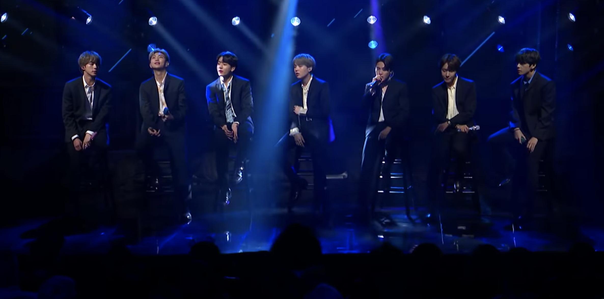 Watch BTS Serenade 'Colbert' Audience With 'Make It Right'
