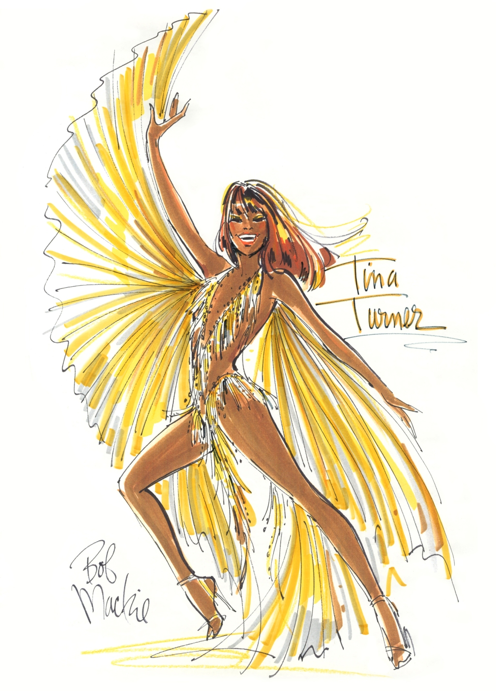 """""""That was in the late Seventies when she had split up with Ike. They were separated and she was doing a nightclub act before she started doing the huge stadium rock & roll things with Mick Jagger. This was very Tina. She had so much fun with those wings and all that fringe. The woman was just amazing and still is of course. """"It was interesting [to see Tina the musical] because I had lived through some of those events with her."""""""