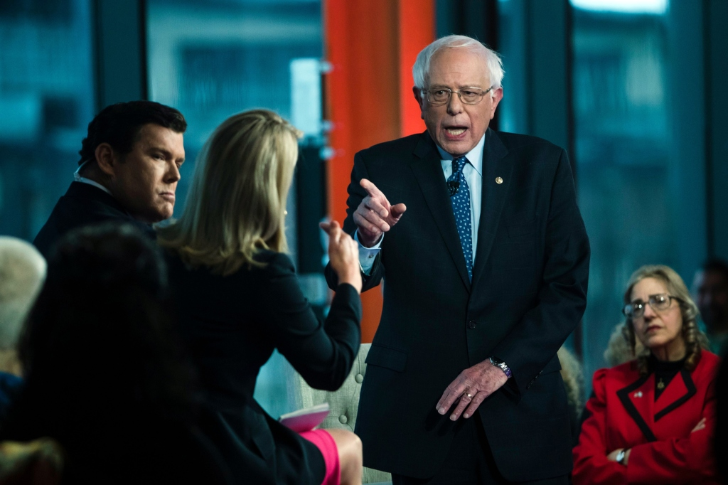 Sen. Bernie Sanders, I-Vt., takes part in a Fox News town-hall style event with Bret Baier and Martha MacCallum, in Bethlehem, PaElection 2020 Bernie Sanders, Bethlehem, USA - 15 Apr 2019
