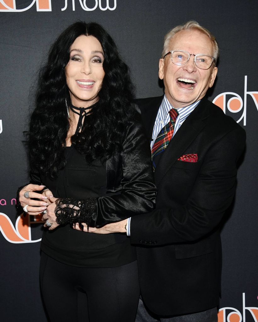 """Cher, Bob Mackie. Cher, left, and designer Bob Mackie attend """"The Cher Show"""" Broadway musical opening night at the Neil Simon Theatre, in New York""""The Cher Show"""" Broadway Opening Night, New York, USA - 03 Dec 2018"""