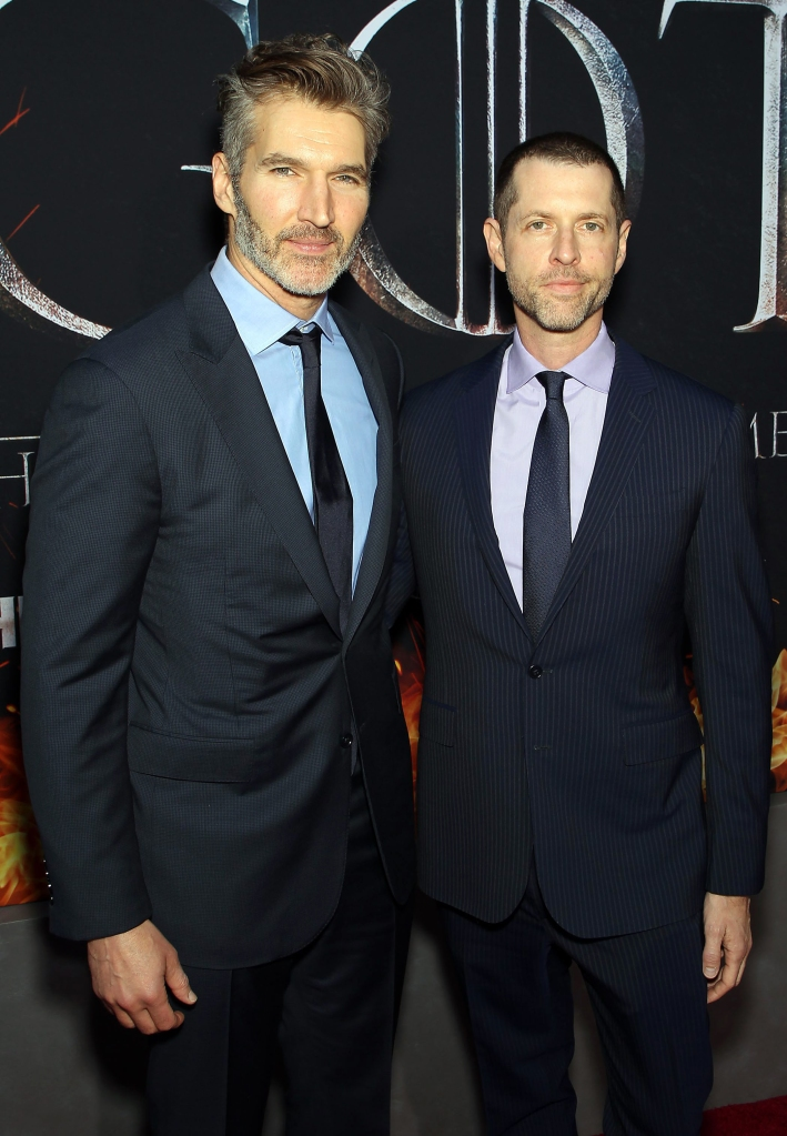 """David Benioff (Creator, Executive Producer), D. B. Weiss (Creator, Executive Producer)New York Red Carpet Premiere for HBO's final season of """"GAME OF THRONES"""", New York, USA - 03 Apr 2019"""