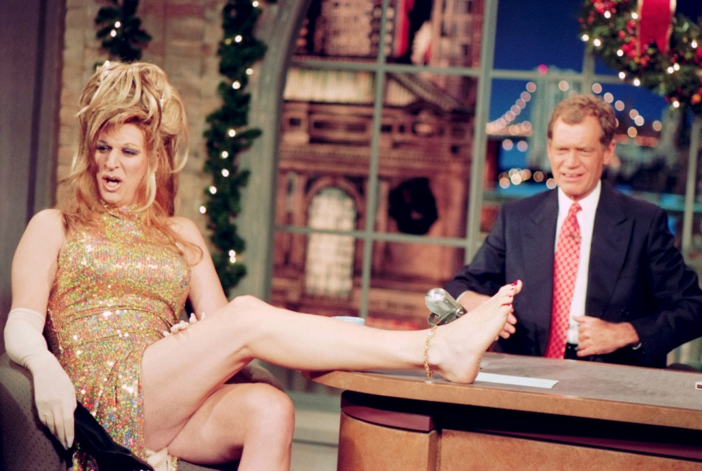 NEW YORK - DECEMBER 20: Howard Stern in full drag on the Late Show with David Letterman, December 20, 1995 on the CBS Television Network. This photo is provided by CBS from the Late Show with David Letterman photo archive. (Photo by Alan Singer/CBS via Getty Images)