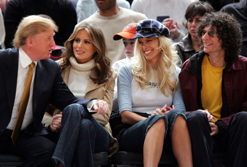 Donald Trump, Melania Trump, Beth Ostrosky and Howard Stern (Photo by James Devaney/WireImage)