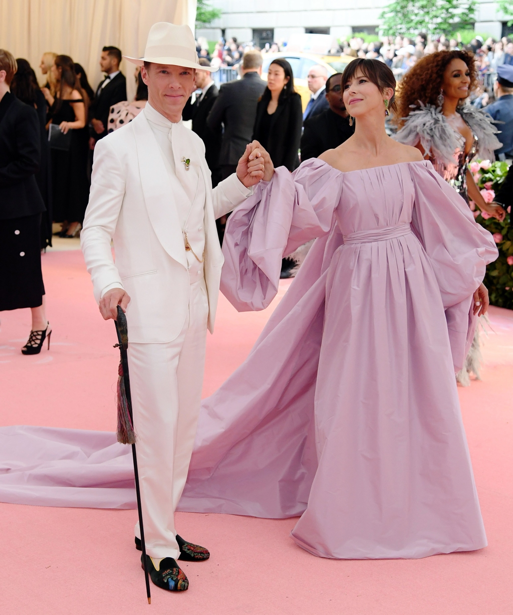 Benedict Cumberbatch and Sophie Hunter attend The 2019 Met Gala Celebrating Camp: Notes on Fashion at Metropolitan Museum of Art on May 06, 2019 in New York City.