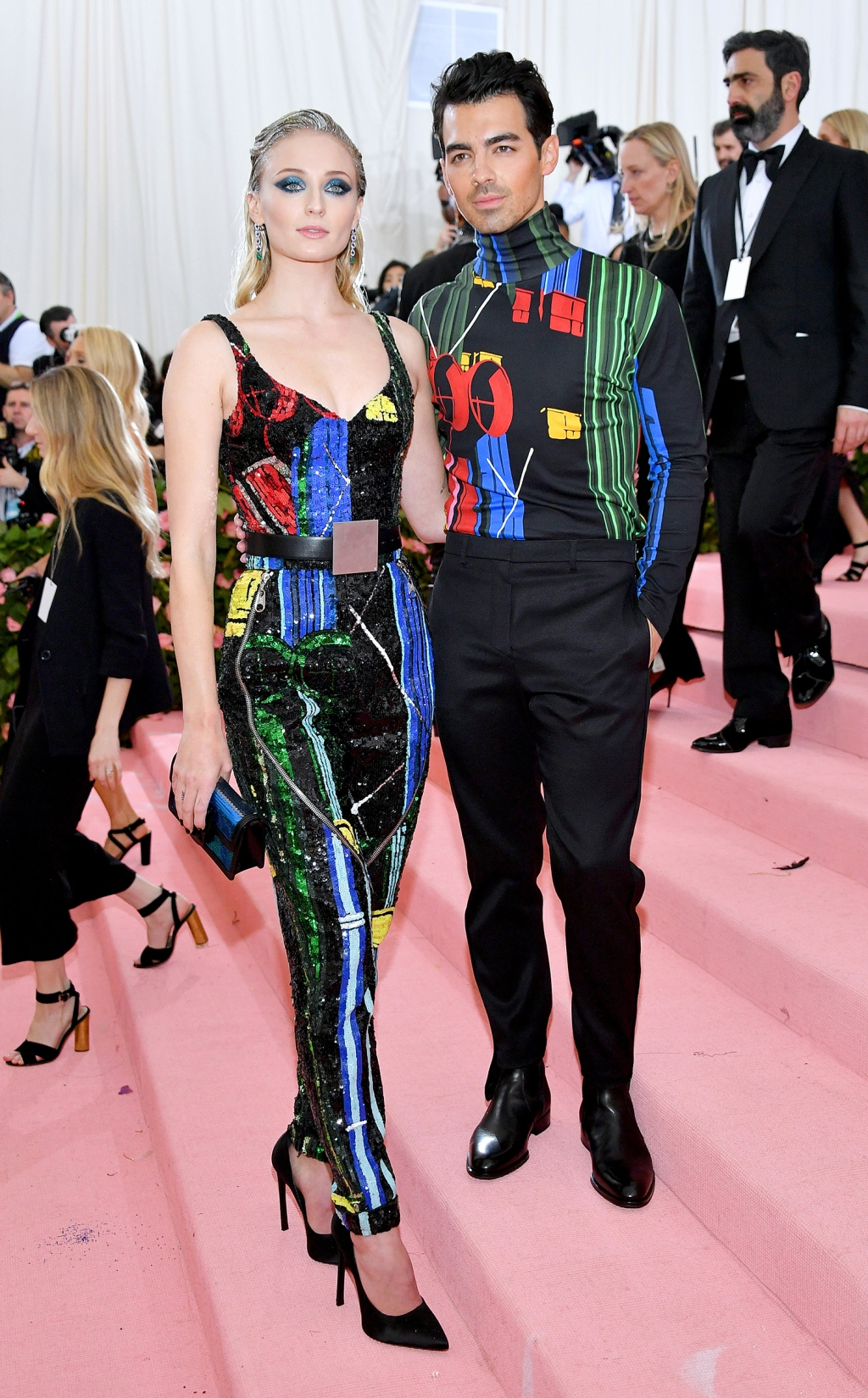 Sophie Turner and Joe Jonas attend The 2019 Met Gala Celebrating Camp: Notes on Fashion at Metropolitan Museum of Art on May 06, 2019 in New York City.