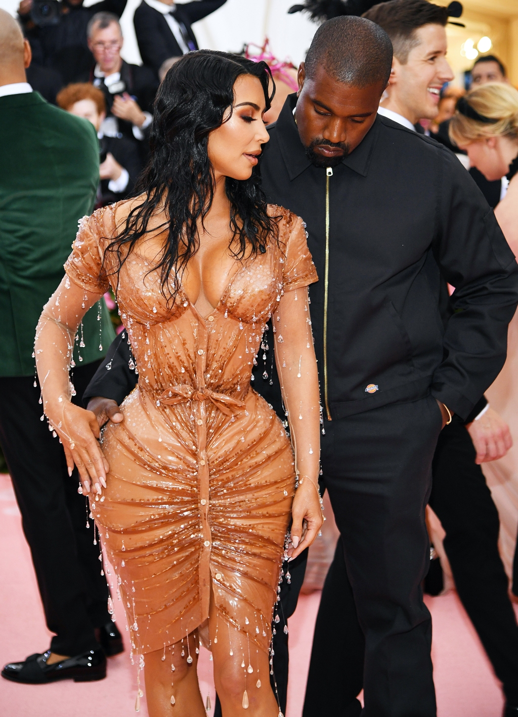 Kim Kardashian West (L) and Kanye West attend The 2019 Met Gala Celebrating Camp: Notes on Fashion at Metropolitan Museum of Art on May 06, 2019 in New York City.