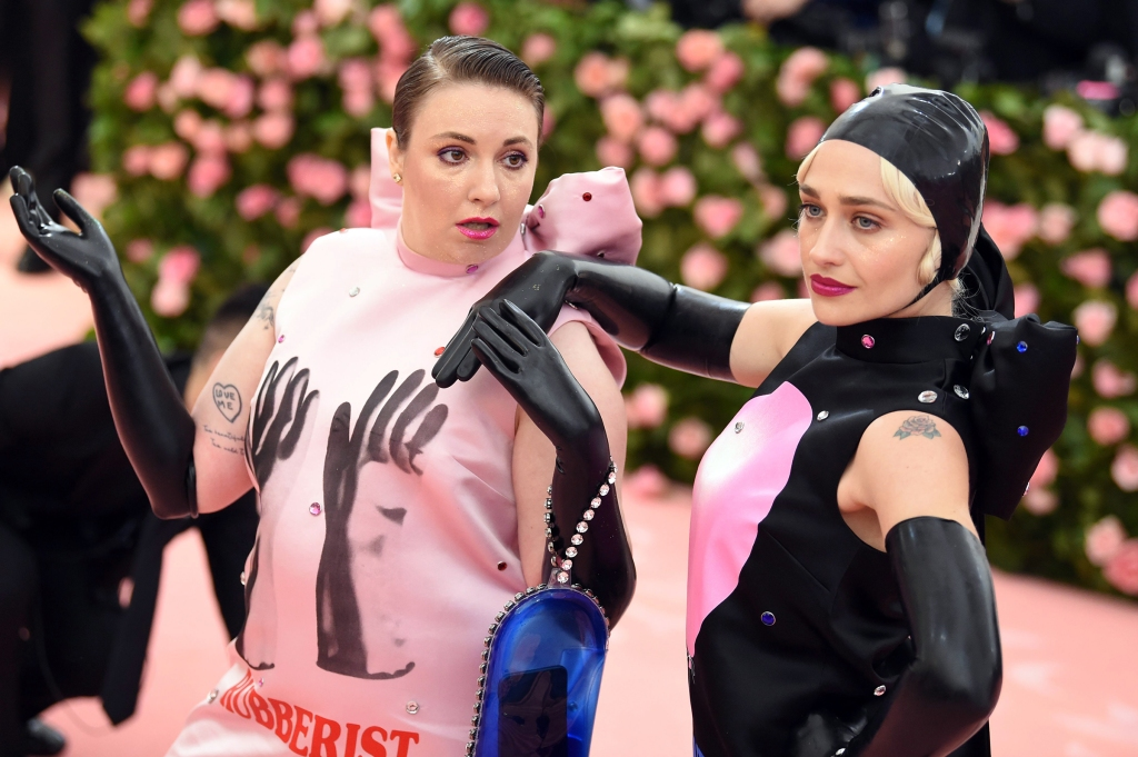Lena Dunham and Jemima Kirke attend The 2019 Met Gala Celebrating Camp: Notes on Fashion at Metropolitan Museum of Art on May 06, 2019 in New York City.