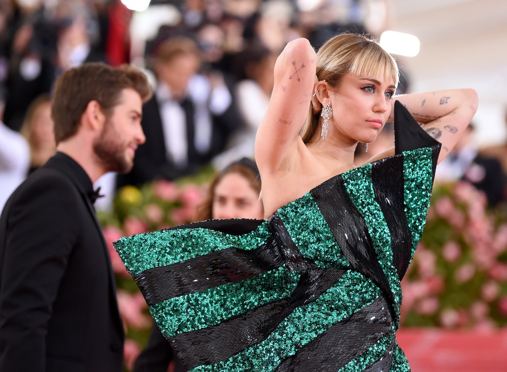 Miley Cyrus attends The 2019 Met Gala Celebrating Camp: Notes on Fashion at Metropolitan Museum of Art on May 06, 2019 in New York City.