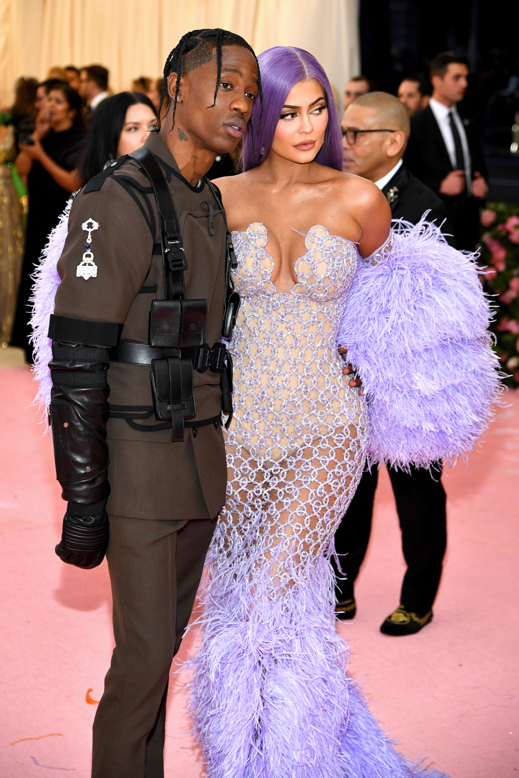 Travis Scott (L) and Kylie Jenner attend The 2019 Met Gala Celebrating Camp: Notes on Fashion at Metropolitan Museum of Art on May 06, 2019 in New York City.